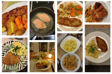Our cooking event was a successful evening👨🍳👩🍳 And we enjoyed our delicious Vienna Schnitzel🇦🇹